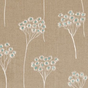 Clarke and Clarke Wild Garden Cowslip Aqua Made to Measure Curtains