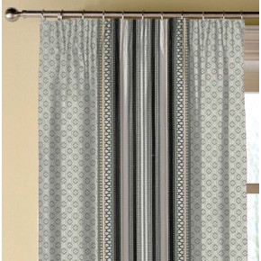 Clarke and Clarke Chateau Paradiso Smoke/Ebony Made to Measure Curtains