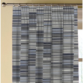 Prestigious Textiles Atrium Parquet Cobalt Made to Measure Curtains