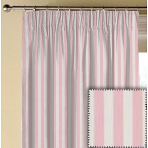 Clarke and Clarke Garden Party Party Stripe Pink Made to Measure Curtains