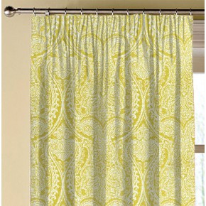 Clarke and Clarke Halcyon Pastiche Chartreuse Made to Measure Curtains