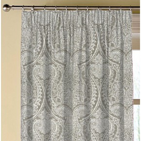 Clarke and Clarke Halcyon Pastiche Mocha Made to Measure Curtains