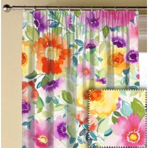 Clarke and Clarke Artbook Penelopes  Muse Linen Multi Made to Measure Curtains