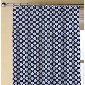 Prestigious Textiles Annika Pia Navy Made to Measure Curtains