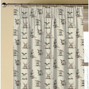 Clarke and Clarke Countryside Rabbits Linen Made to Measure Curtains