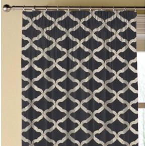 Clarke and Clarke Imperiale Reggio Ebony Made to Measure Curtains