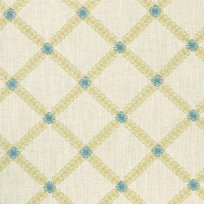 Clarke and Clarke Bloomsbury Cressida mineral-citron  Curtain Fabric