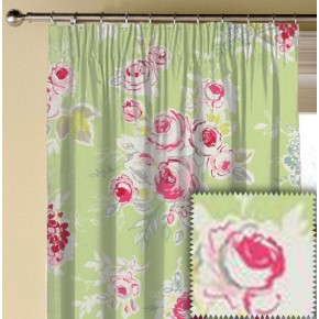 Clarke and Clarke Garden Party Rose Garden Apple Made to Measure Curtains