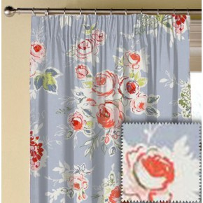 Clarke and Clarke Garden Party Rose Garden Chambray Made to Measure Curtains