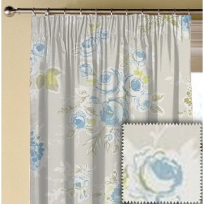 Clarke and Clarke Garden Party Rose Garden Mineral Made to Measure Curtains