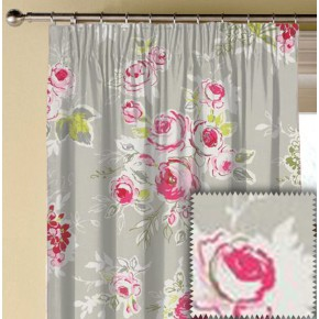 Clarke and Clarke Garden Party Rose Garden Pebble Made to Measure Curtains