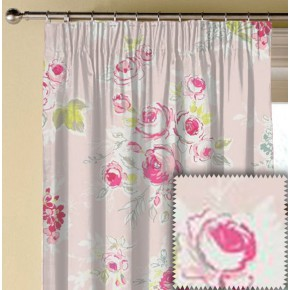 Clarke and Clarke Garden Party Rose Garden Pink Made to Measure Curtains