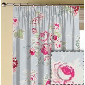 Clarke and Clarke Garden Party Rose Garden Sky Made to Measure Curtains