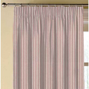 Clarke and Clarke Glenmore Rowan Red Made to Measure Curtains