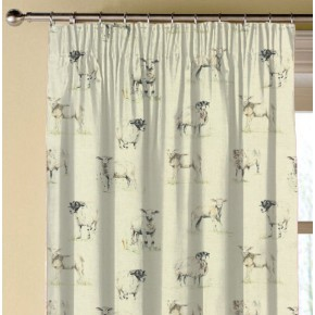 Clarke and Clarke Countryside Sheep Linen Made to Measure Curtains