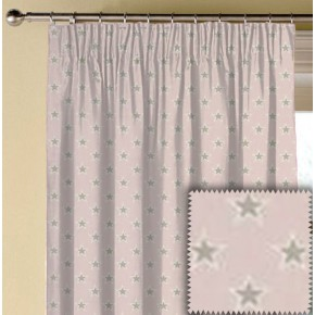 Clarke and Clarke Garden Party Shooting Stars Pink Made to Measure Curtains
