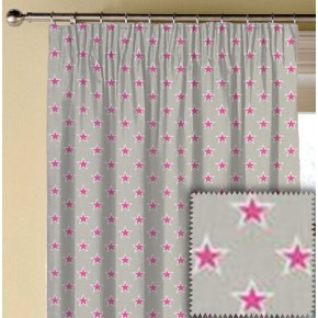 Clarke and Clarke Garden Party Shooting Stars Raspberry Made to Measure Curtains