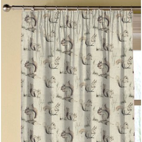 Clarke and Clarke Countryside Squirrels Linen Made to Measure Curtains