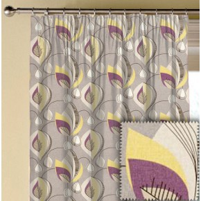Clarke and Clarke Festival Starlight Elderberry Made to Measure Curtains