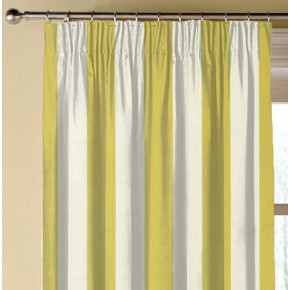 Clarke and Clarke Chateau St James Stripe Acacia Made to Measure Curtains