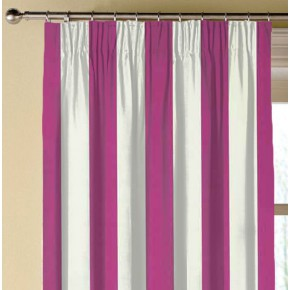 Clarke and Clarke Chateau St James Stripe Fuchsia Made to Measure Curtains