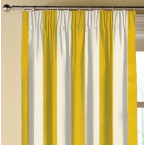 Clarke and Clarke Chateau St James Stripe Gold Made to Measure Curtains