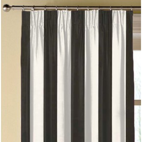 Clarke and Clarke Chateau St James Stripe Noir Made to Measure Curtains