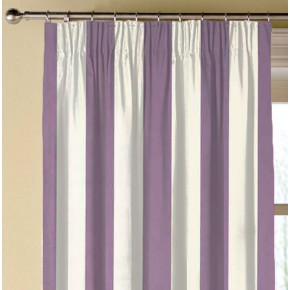 Clarke and Clarke Chateau St James Stripe Violet Made to Measure Curtains