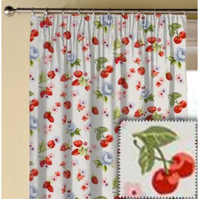 Clarke and Clarke Garden Party SummerFruits Chambray Made to Measure Curtains