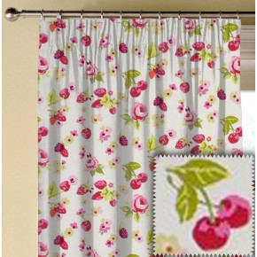 Clarke and Clarke Garden Party SummerFruits Raspberry Made to Measure Curtains