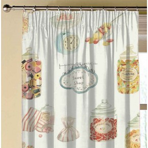 A Village Life  Sweet Shop  Cream  Made to Measure Curtains