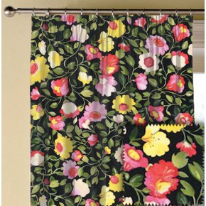 Clarke and Clarke Artbook Tatiana Linen Noir Made to Measure Curtains
