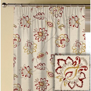 Prestigious Textiles Devonshire Tiverton Paprika Made to Measure Curtains