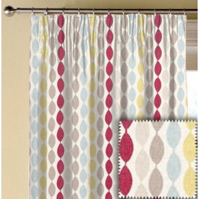 Clarke and Clarke Festival Twist Summer Made to Measure Curtains