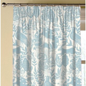 Clarke and Clarke Blighty Westonbirt Blue Made to Measure Curtains