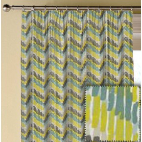 Clarke and Clarke Cariba Windjammer Chartreuse Made to Measure Curtains