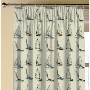 Clarke and Clarke Countryside Yachts Linen Made to Measure Curtains