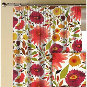 Clarke and Clarke Artbook Zinnias Linen Autumn Made to Measure Curtains