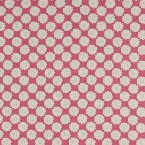 Clarke and Clarke Nostalgic Prints Daisy Raspberry Cushion Covers
