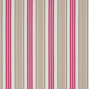 Clarke and Clarke Vintage Classics Deckchair Stripe Taupe Curtain Fabric