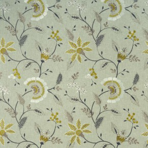 Clarke and Clarke Halcyon Delamere Chartreuse Curtain Fabric