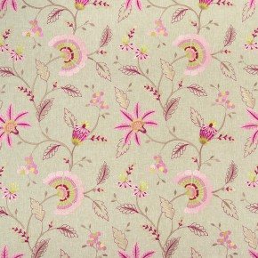 Clarke and Clarke Halcyon Delamere Raspberry Curtain Fabric