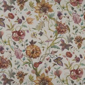Country Garden Delilah Spice Linen  Curtain Fabric