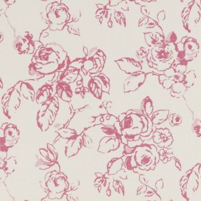 Clarke and Clarke Clarisse Delphine Raspberry Curtain Fabric