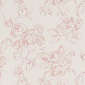 Clarke and Clarke Clarisse Delphine Rose Curtain Fabric