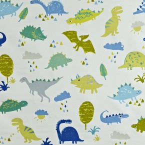 Prestigious Textiles Playtime Dino Denim Made to Measure Curtains