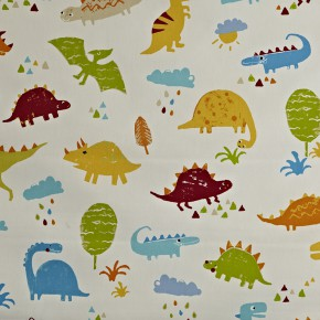 Prestigious Textiles Playtime Dino Paintbox Curtain Fabric