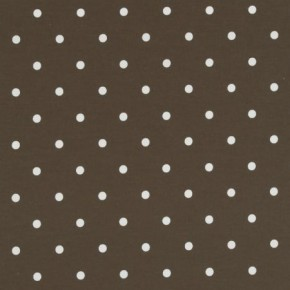 Clarke and Clarke Vintage Classics Dotty Chocolate Curtain Fabric
