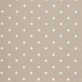 Clarke and Clarke Vintage Classics Dotty Taupe Curtain Fabric