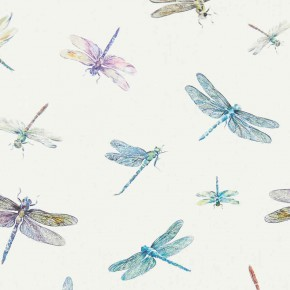 A Village Life  Dragon Flies  Cream  Curtain Fabric